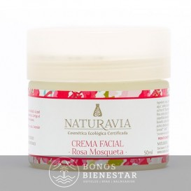 Creme Facial Natural de Rosa Mosqueta de Naturavia